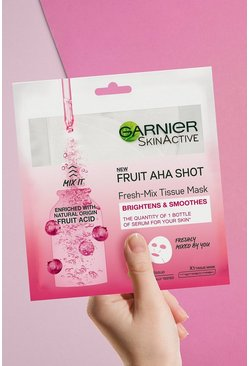Mascarilla Fresh-Mix Fruit AHA Shot de Garnier, Rosa