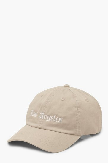 Beige Los Angeles Slogan Cap