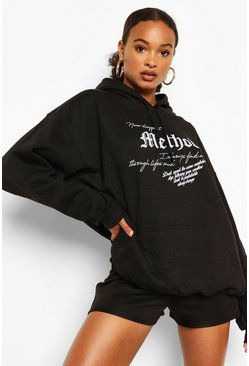 Black Method Oversized Hoody