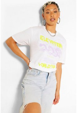 White Oversized Tour T-Shirt