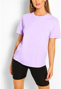 Lilac purple Washed Oversized T-Shirt