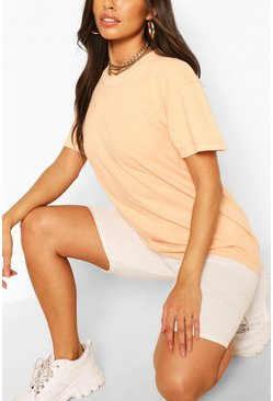 Terracotta orange Washed Oversized T-Shirt