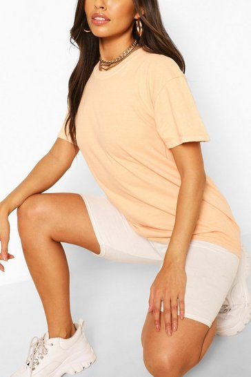 Terracotta orange Orange Washed Oversized T-Shirt