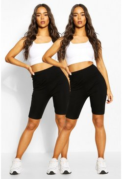 Black Basic 2 Pack Cycle Short
