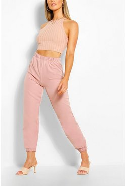 Blush pink Woven Tailored Jogger