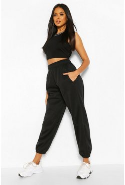 Black High Waist Oversized Jogger