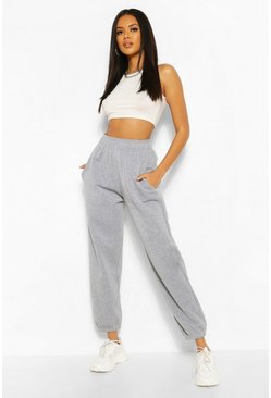 Grey marl grey Grey High Waisted Oversized Joggers