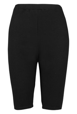 Black Rib Longline Cycle Short