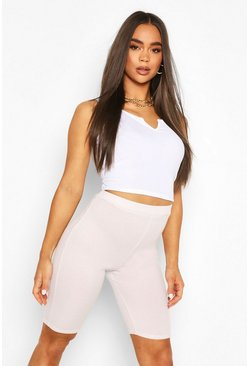 Violet purple Rib Longline Cycle Short
