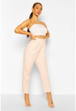 Pale pink pink Straight Leg Tailored Trouser