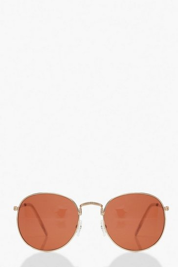 Red Coloured Lens Round Sunglasses
