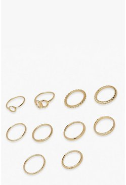 Gold metallic Double Ring 10 Pack
