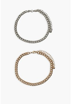 Multi Chain Bracelet 2 Pack