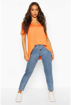 Orange Hi Low Hem T-Shirt