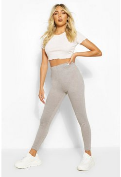 Grey Basic High Waist Ankle Grazer Legging