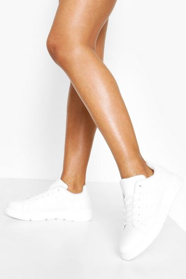 White Interest Sole Chunky Trainers
