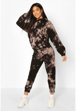 Zwart black Tie Dye Joggingbroek