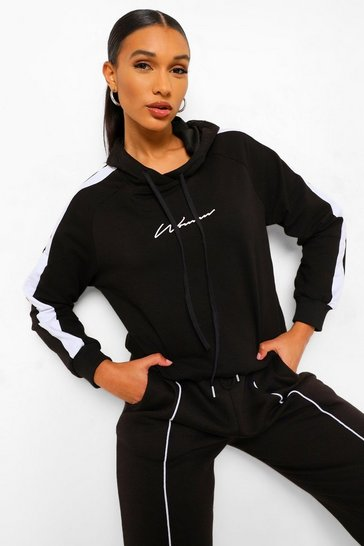 Black Woman Print Oversized Hoody