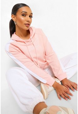 Pink Woman Print Oversized Hoody