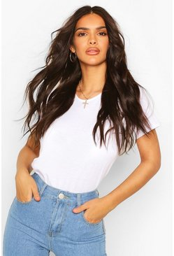 White Recycled Basic Cap Sleeve T-Shirt