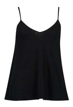 Black Recycled Strappy Vest Top