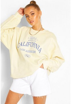 Yellow California Washed Oversized Sweat