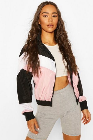 Pink Panelled Windbreaker