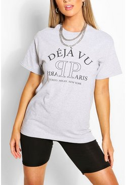 Grey Deja Vu Printed T-Shirt