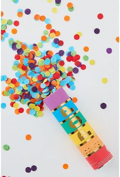 Ginger Ray Rainbow Confetti Cannon , Multi