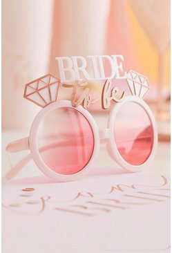 Ginger Ray Bride To Be Glasses, Pink rose