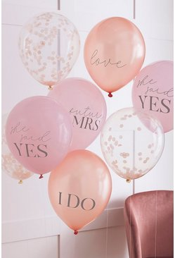 Ginger Ray Slogan Hen Party Balloons, Pink rose