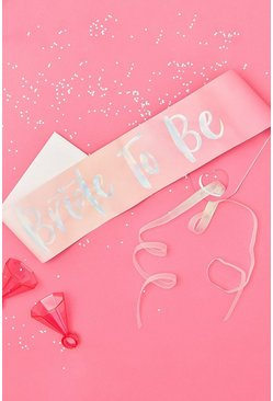 Ginger Ray Bride To Be Sash , Pink rose