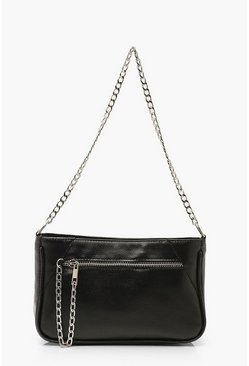 Black Chain Strap Under Arm Bag