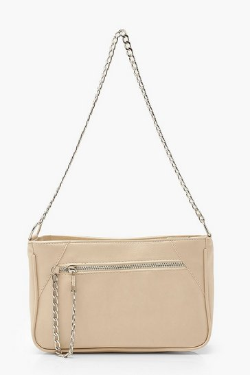 Nude Chain Strap Under Arm Bag