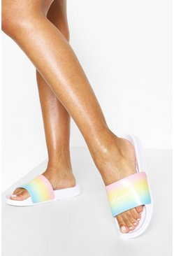 White Rainbow Woman Sliders