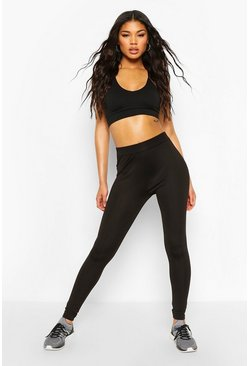Zwart black Basic Fitness Leggings (2 Stuks)