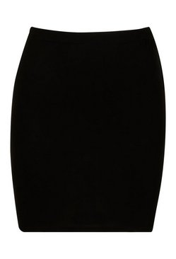 Black Basic Bodycon Mini Skirt