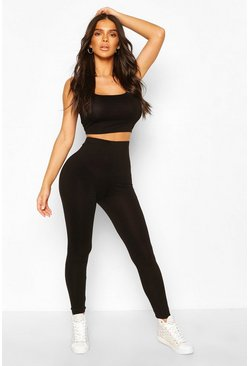 Black Basic High Waist Legging