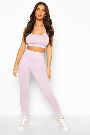 Lilac purple Basic High Waist Legging