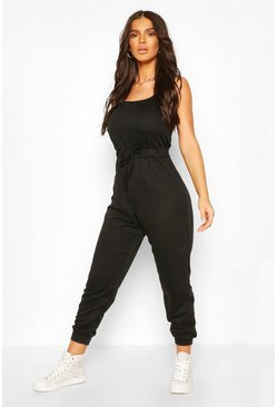Black 2 in 1 Cami Top & Jogger Jumpsuit