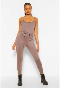 Charcoal grey 2 in 1 Cami Top & Jogger Jumpsuit