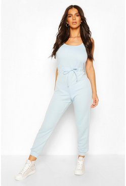 Pale blue blue 2 in 1 Cami Top & Jogger Jumpsuit