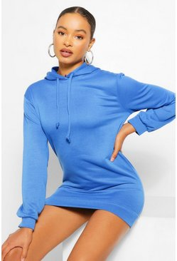 Cobalt Hooded Sweat Dress