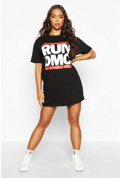 "Black ""RUN DMC"" T-shirt med tryck"