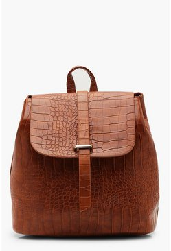 Tan brown Croc Tab Rucksack