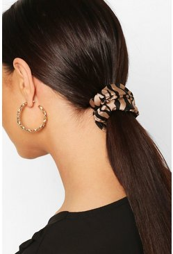 Multi Satin Scrunchie 2 Pack