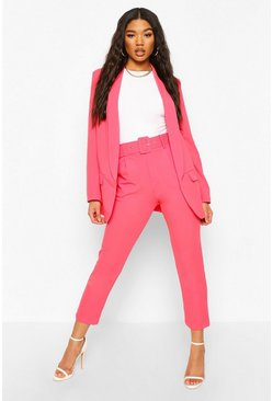 Coral Self Belt Tailored Trousers
