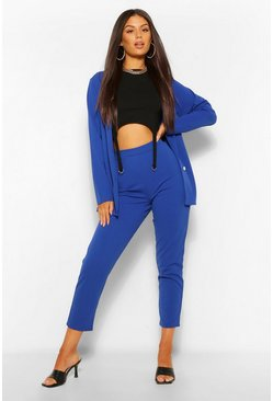 Blue Double Breasted Blazer & Pants Suit Set