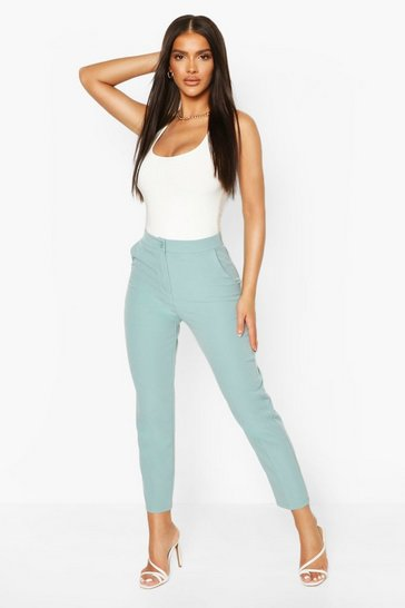 Turquoise blue Tailored Trouser
