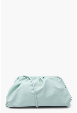 Sage green Slouchy Oversized PU Clutch & Strap Bag